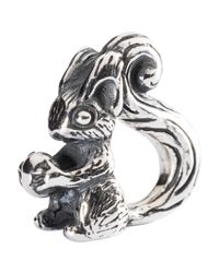 Trollbeads | Metallic Sterling Silver Squirrel Charm | Lyst