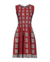 Issa - Red Short Dress - Lyst