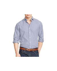 Ralph Lauren - Blue Polo Checked Poplin Estate Shirt for Men - Lyst