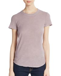James Perse | Purple Sheer Slub Cotton Tee | Lyst