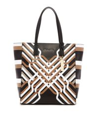 Trina Turk | Brown Geo Canyon Tote | Lyst