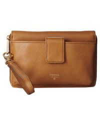 Fossil - Natural Phone Wristlet - Lyst
