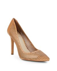 Vince Camuto | Brown Caila Lasercut Leather Pumps | Lyst