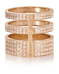 Repossi - Pink Berbère 18-Karat Rose Gold Diamond Ring - Lyst