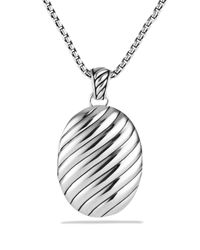David Yurman | Metallic Sculpted Cable Locket | Lyst