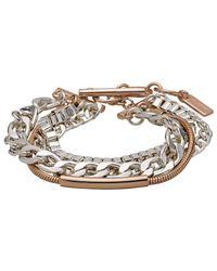 Pilgrim - Metallic Rose Gold And Silver Plated Bracelet - Lyst