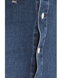 AG Jeans - Blue Denim Button Up Skirt - Lyst