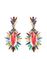 Erickson Beamon - Multicolor 'telepathic' Marquise Cut Crystal Drop Earrings - Lyst