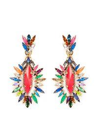 Erickson Beamon | Multicolor 'telepathic' Marquise Cut Crystal Drop Earrings | Lyst