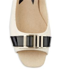 Anne Klein | White Hooked Slingback Wedges | Lyst