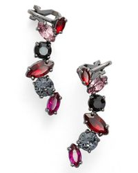 Marchesa | Multicolor 'poppy' Linear Stud Earrings | Lyst