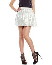 Maje | Metallic Lamã© Skirt | Lyst