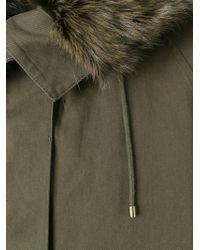 Yves Salomon | Green Marmot Fur Collar Parka | Lyst