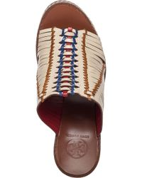Tory Burch - Brown Pecha 100mm Mule Veg Leather - Lyst