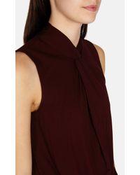 Karen Millen - Purple Knot Neckline Sleeveless Top - Lyst