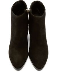 Alexander Wang | Black Suede Notched Heel Gabi Ankle Boots | Lyst