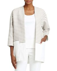 Lafayette 148 New York - Multicolor Ursula Striped Jacket - Lyst