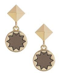 House of Harlow 1960 - Metallic Star Engraved Earrings - Lyst