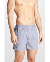 Lacoste - Gray Cotton Boxers for Men - Lyst