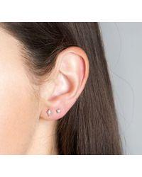 V Jewellery | Metallic Clara Stud Earrings | Lyst