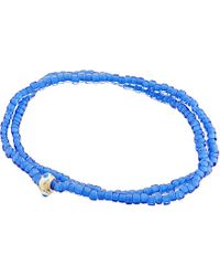 Luis Morais | Evil Eye Double Wrap Bracelet, Men's, Blue for Men | Lyst