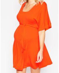 ASOS - Blue Maternity Wrap Kimono Dress - Lyst
