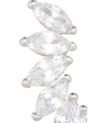 Fallon | Metallic Rhodium Plated Cubic Zirconia Marquis Wing Climber Earrings | Lyst