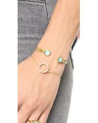 Monica Vinader | Metallic Atlantis Bracelet - Amazonite/gold | Lyst