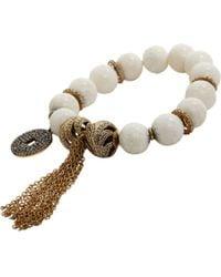 Carole Shashona | White Black Diamond Camel Bone Empower Bracelet | Lyst