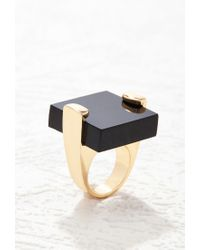 Forever 21 | Metallic Square-shape Cocktail Ring | Lyst