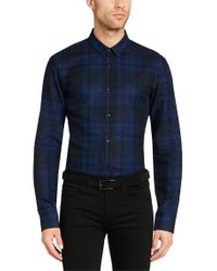 HUGO - Blue 'ero' | Slim Fit, Cotton Button Down Shirt for Men - Lyst