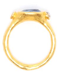 Ram - Metallic 22k Gold and Sapphire Ring - Lyst