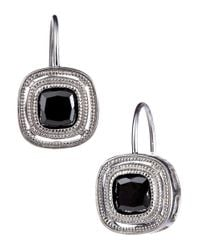 Lord & Taylor | Black Sterling Silver Drop Pendant Earrings | Lyst