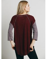 Free People | Purple We The Free Womens We The Free Stolen Baseball Tee | Lyst