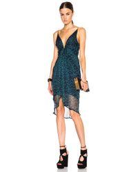 Zimmermann - Blue Esplanade Plunge Tuck Dress - Lyst