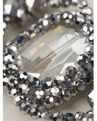 Night Market | Metallic Crystal Ribbon Necklace | Lyst