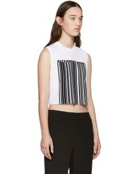 Alexander Wang - White Cropped Barcode Tank Top - Lyst