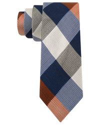Tommy Hilfiger   Red Texture Buffalo Slim Tie for Men   Lyst