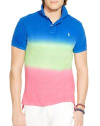 Ralph Lauren | Multicolor Polo Custom Fit Dip Dyed Polo Shirt - Slim Fit for Men | Lyst