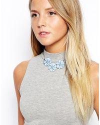 ASOS | Blue 3D Flower Choker Necklace | Lyst