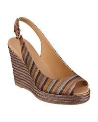 Nine West - Brown Forevryung Wedge Sandals - Lyst
