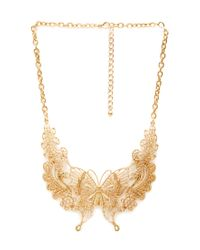 Forever 21 | Metallic Butterfly Bib Necklace | Lyst