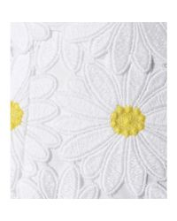 Dolce & Gabbana - Yellow Embroidered Lace Skirt - Lyst