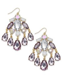 INC International Concepts | Metallic Gold-tone Multicolor Stone Chandelier Earrings | Lyst