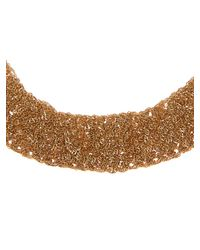 Diane von Furstenberg - Metallic Woven-Chain Gold-Plated Necklace - Lyst