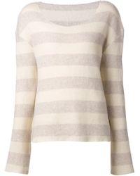 The Elder Statesman - Natural Cutter Sweater - Lyst