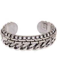 DANNIJO | Metallic Silver Nolan Chain Cuff Bracelet | Lyst
