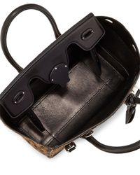 Ralph Lauren - Black Ricky 27 Leopard-print Calf Hair Satchel Bag - Lyst