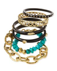 Ashley Pittman | Blue Zito Dark Horn Bangles | Lyst