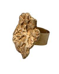 Linnie Mclarty - Metallic Prospector's Ring Gold - Lyst